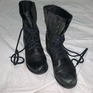 Steve Madden Troopa Black boots size 6